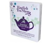 English Tea Shop Dárková plechová kazeta Bílá Vánoční zima BIO 72 sáčků