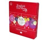 English Tea Shop Dárková plechová kazeta Červené ozdoby BIO 72 sáčků
