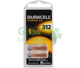 Baterie do naslouch.Duracell DA312P6 Easy Tab 6ks