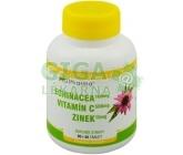 Echinacea 100mg+VitamínC 500mg+Zinek 10mg tbl.90