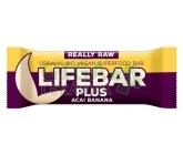Lifefood Lifebar Plus acai banán BIO 47g