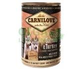 Carnilove WM konz. Salmon & Turkey for Puppies GF 400g