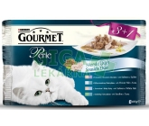 Gourmet Perle cat kaps.- DUO Multipack ryba 4 x 85g (3+1zdarma)