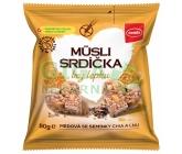 Semix Musli srdíčka bez lepku medová se semínky chia a lnu 50g