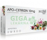 Apo-Cetirizin 10mg por.tbl.flm.20x10mg
