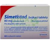 Simetistad 80mg žvýkací tablety tbl.60