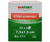 Gázový kompres STERILKOMPRES 7.5x7.5cm 25x2ks