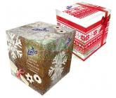 Kapesník papír.LINTEO Premium 2-vrst.80ks box ván.