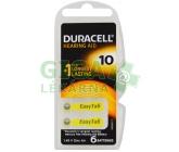 Obrázek Baterie do naslouchadel Duracell DA10P6 Easy Tab 6ks