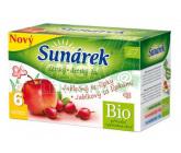 Sunárek čaj dětský jablečný se šípky 20 x 1.5g