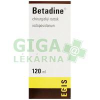 Betadine - chirurgický roztok 120ml (hnědý)