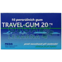 Travel-Gum 20mg 10 žvýkaček