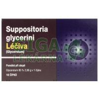 Suppositoria glycerini 10 (Glycerinové čípky)
