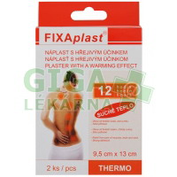 FIXAPLAST THERMO náplast s hřejivými účinky 9.5x13cm 2ks