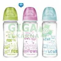 CANPOL Láhev EasyStart PURE glass 330ml 3079003