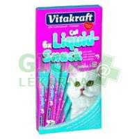 Vitakraft snack cat Liguid Omega 3 losos 6x15g