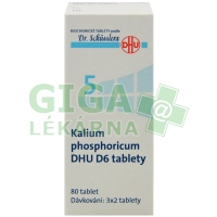 Kalium phosphoricum DHU 80 tablet D6 (No.5)