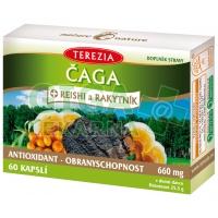 TEREZIA Čaga+Reishi a Rakytník 60 kapslí