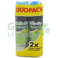 Gillette Mach3 Sensitive gel na holení 2×200ml