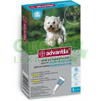 Advantix pro psy spot on dog od 4-10kg 1x1ml