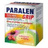 Paralen Grip horký nápoj Echin+šípky 12 sáčků