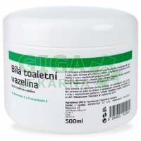 AROMATICA Bílá toaletní vazelína s vitamin E 500ml
