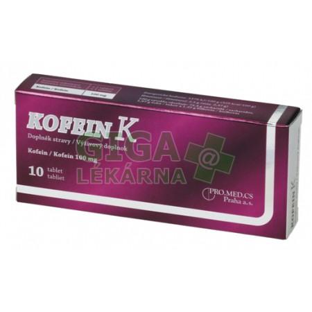 Kofein K 100mg 10 tablet - GigaLékárna.cz 86618c89b5
