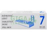 Dávkovač léků pro 7 dní dělený