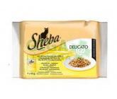 Sheba kaps. - DELICATO drůb. menu v želé Multipack 4x85g