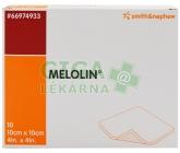 Melolin krytí 10x10cm sterilní nepřil.na rány 10ks