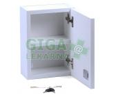 Obrázek Lékárnička - bílá dřevěná 330x230x120mm prázdná