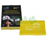 KineMAX Resistance band Posilovací guma žlutá 2m