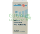 No.10 Natrium sulfuricum DHU D6 200tbl.