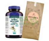 Melatonin Mučenka Meduňka B6 100tbl+Meduňk.čaj 50g