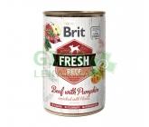 Brit Dog Fresh konz. Beef with Pumpkin 400g