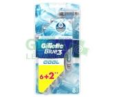 Gillette Blue3 Cool 6+2 ks