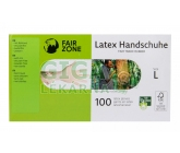 Fair Squared Jednorázové latexové rukavice L 100ks