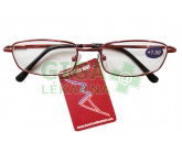 Brýle čtecí American Way +2.00 červené v etui