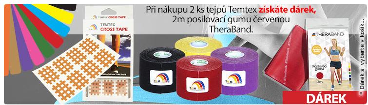 GigaLékárna.cz - Akce: 2x tejp Temtex + posilovací guma zdarma