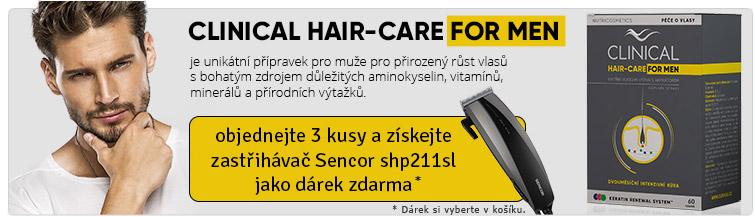 GigaLékárna.cz - Clinical-Hair for men + zastříhávač Sencor