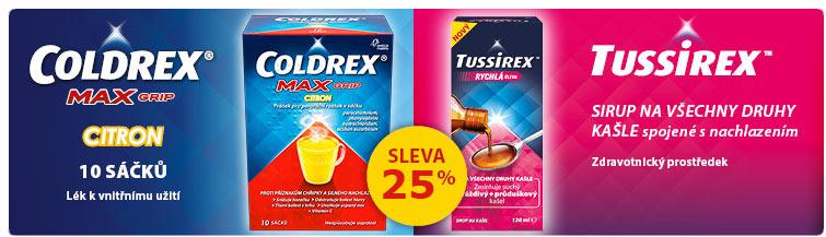 GigaLékárna.cz - Coldrex, Tussirex a další Omega pharma -25 %