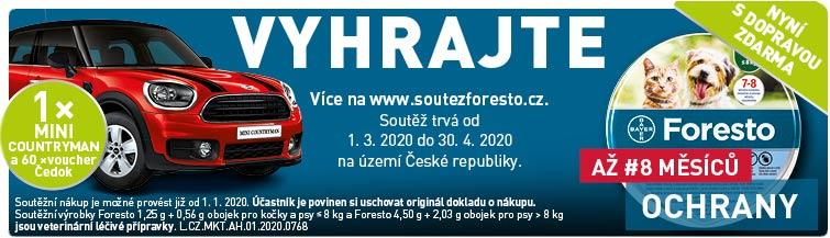 GigaLékárna.cz - Foresto s dopravou zdarma a soutěží o auto