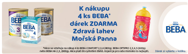 GigaLékárna.cz - Nestlé Beba 4ks + kojenecká léhev