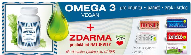 GigaLékárna.cz - Omega 3 Vegan s dárkem