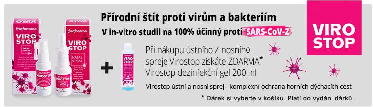 GigaLékárna.cz - Dezinfekce k nákupu produktů Virostop