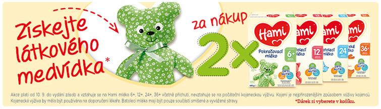GigaLékárna.cz - K nákupu 2x Hami látkový medvěd zdarma