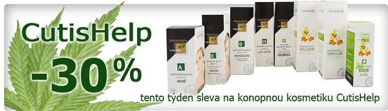 GigaLékárna.cz - Sleva 30% na konopnou kosmetiku CutisHelp