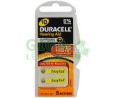Baterie do naslouch.Duracell DA10P6 Easy Tab 6ks