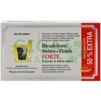Bioaktivní Selen+Zinek FORTE 60+30 tbl.EXTRA