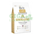 Brit Care Grain Free Dog Senior&Light S & P 3kg